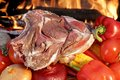 Free Fresh T-bone Steak And Vegetables Royalty Free Stock Photos - 36169668