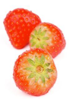 Free Three Strawberries Stock Photos - 36163683