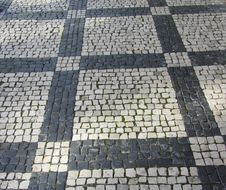 Free Cobblestone Patterned Street Stock Photography - 36168352