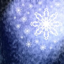 Free Winter Blue Background With Snowflakes Royalty Free Stock Images - 36168989