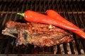 Free Rib Steak On BBQ Grill Royalty Free Stock Photos - 36170568