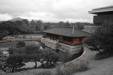 Free Red Temple In Korea Royalty Free Stock Image - 36171496