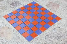 Free Square Checkers On A Marble Table. Stock Photo - 36176020