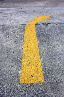 Free Yellow Arrow Traffic On The Road Royalty Free Stock Image - 36176366