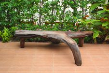 Free Benches Made Of Roots. Royalty Free Stock Photos - 36176778