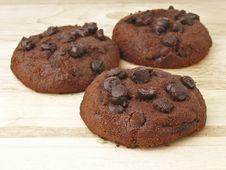 Free Triple Chocolate Chip Royalty Free Stock Image - 36177896