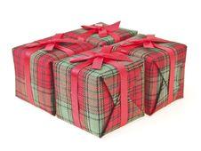 Free Four Gift Box Royalty Free Stock Photos - 36177938