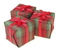 Free Triple Red Gift Royalty Free Stock Image - 36178076