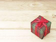 Free Gift On Wood Stock Image - 36178111
