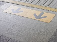 Free Arrow On Platform Stock Photos - 36178453