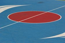 Free Middle Of The Basketball Court. Royalty Free Stock Image - 36178996