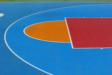 Free The Front Lines Of The Basketball Court. Royalty Free Stock Photography - 36179197