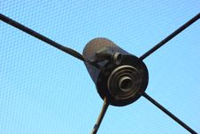 Free Satellite Receiver Dish Is An Roof. Stock Photography - 36180492