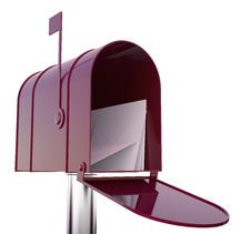 Free Red Mailbox With Mails Royalty Free Stock Image - 36184606