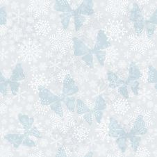 Free Seamless Silvery Christmas Pattern Royalty Free Stock Photo - 36189175