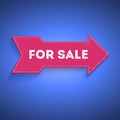 Free Pointer, Large Arrow With The Text For Sale Stock Photos - 36190853