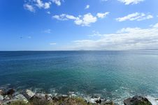 Free Deep Blue Sea And Coastline Stock Image - 36190211