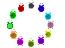 Free Color Alarms Royalty Free Stock Photo - 36190515