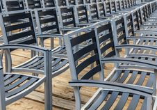 Free Row Of Empty Chairs Stock Image - 36190711