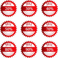 Free Discount Price Tags. Vector. Stock Photo - 36191060