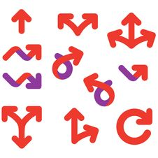 Arrows And Signs Movement Direction Icon Set Stock Photography