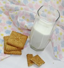 Free Milk And Cookies Royalty Free Stock Photography - 36191947
