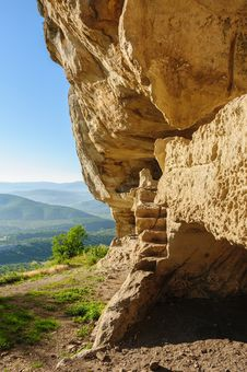 Free Caves At Tepe Kermen, Crimea Royalty Free Stock Images - 36198609