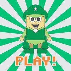 Free Hero Kid Cartoon Royalty Free Stock Image - 36198816