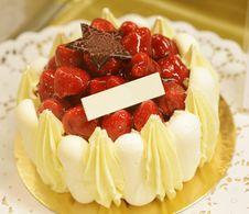 Free Strawberry Cheesecake Royalty Free Stock Photo - 36199415