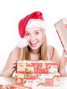 Free Smilling Woman And Presents. Stock Photography - 3622172