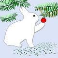 Free Bunny Rabbit Christmas Stock Image - 3622761