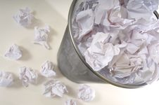 Free Overflowing Wastebasket Stock Photo - 3620030