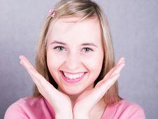 Free Blonde Smiling Girl Royalty Free Stock Image - 3620156
