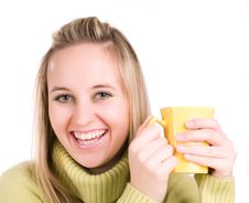 Free Young Woman With Cup Of Tea Stock Photos - 3620703