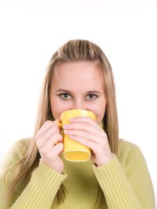 Free Woman Drinking Hot Tea Stock Photos - 3620743
