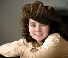Free Smiling Girl In A Hat Royalty Free Stock Photography - 3620787