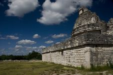 Free Observatory Ruins At Chichen Itza Mexico Stock Photography - 3620842