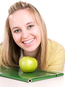 Free Smilling Student With Folder Royalty Free Stock Photo - 3621235