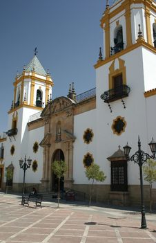 Town Square In Ronda Stock Photography