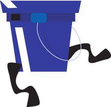 Free Blue Bucket Royalty Free Stock Image - 3623016