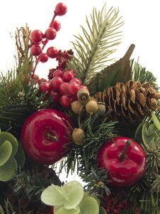 Free Fragment Of Christmas Wreath Stock Photos - 3624093
