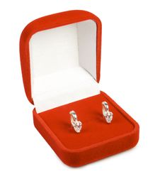 Free Silver Earring In Red Box. Royalty Free Stock Photo - 3624685
