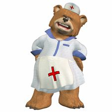 Free Female Nurse Bear Royalty Free Stock Photo - 3624815
