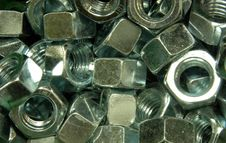 Free Hex Nuts Royalty Free Stock Images - 3624819