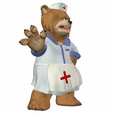 Free Female Nurse Bear Royalty Free Stock Images - 3624879