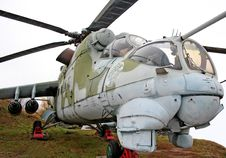 Free Helicopter MI-24 Stock Image - 3625091