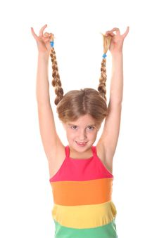 Free Girl Showing Off Braided Hair Vertical Stock Image - 3625261