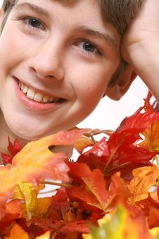 Free Fall Leaves Headshot Stock Photography - 3625262