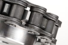 Free Metal Link Chain And Cogwheel Stock Image - 3625781