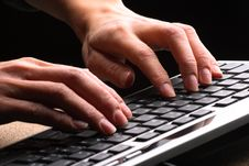 Free Woman Hands Typing Stock Photos - 3626403